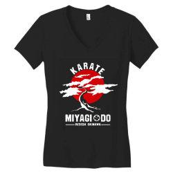 karate miyagi do reseda okinawa Women's V-Neck T-Shirt | Artistshot