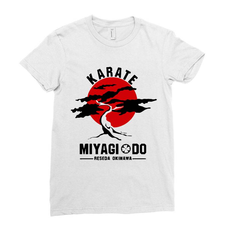 Karate Miyagi Do Reseda Okinawa Ladies Fitted T-shirt | Artistshot