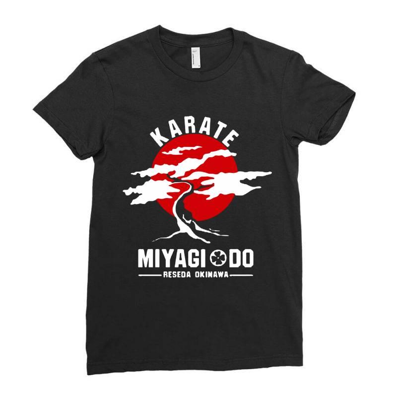 Karate Miyagi Do Reseda Okinawa Ladies Fitted T-shirt | Artistshot