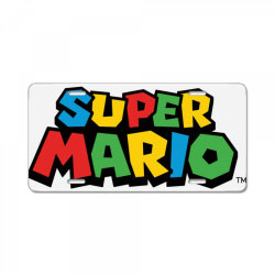 super mario License Plate | Artistshot