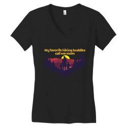 my favorite hiking buddies call me mom Women's V-Neck T-Shirt | Artistshot