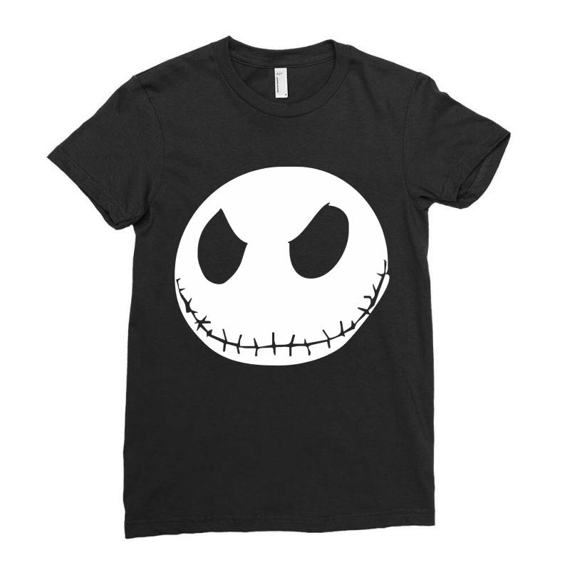 Face Horror Ladies Fitted T-shirt | Artistshot