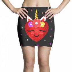 hot girl shirt cute unicorn heart valentines day girls kids t shirt Mini Skirts | Artistshot