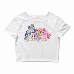 Unicorn friends cute cartoon art Crop Top | Artistshot