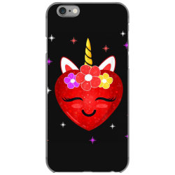 hot girl shirt cute unicorn heart valentines day girls kids t shirt iPhone 6/6s Case | Artistshot