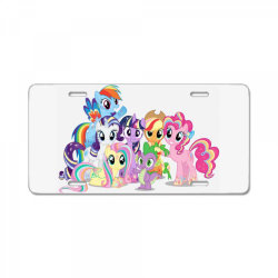 Unicorn friends cute cartoon art License Plate | Artistshot