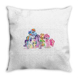 Unicorn friends cute cartoon art Throw Pillow | Artistshot