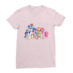 Unicorn friends cute cartoon art Ladies Fitted T-Shirt | Artistshot