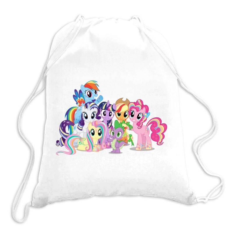 Unicorn Friends Cute Cartoon Art Drawstring Bags | Artistshot