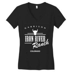 iron river ranch colorado Women's V-Neck T-Shirt | Artistshot