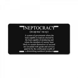 ineptocracy License Plate | Artistshot