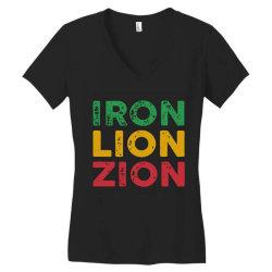 iron lion zion Women's V-Neck T-Shirt   Artistshot