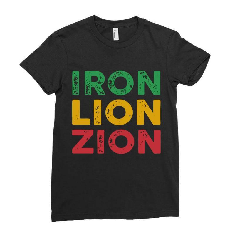 Iron Lion Zion Ladies Fitted T-shirt   Artistshot