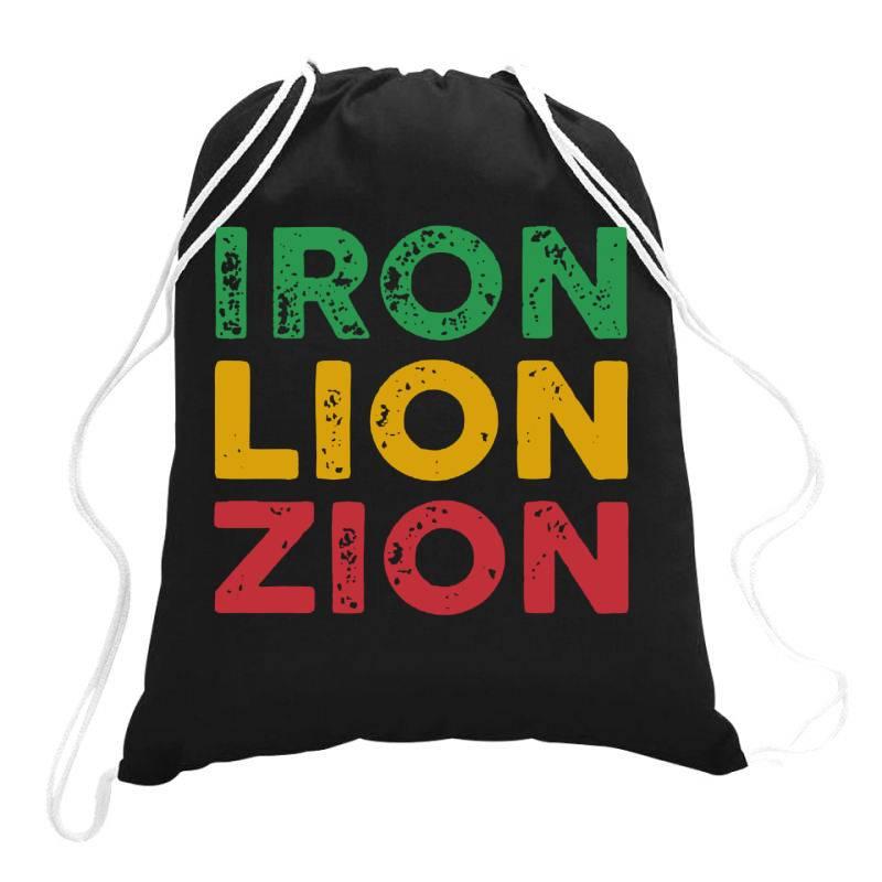 Iron Lion Zion Drawstring Bags | Artistshot