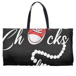 chucks and pearls 2021 cute chucks and pearls  gift t shirt Weekender Totes | Artistshot