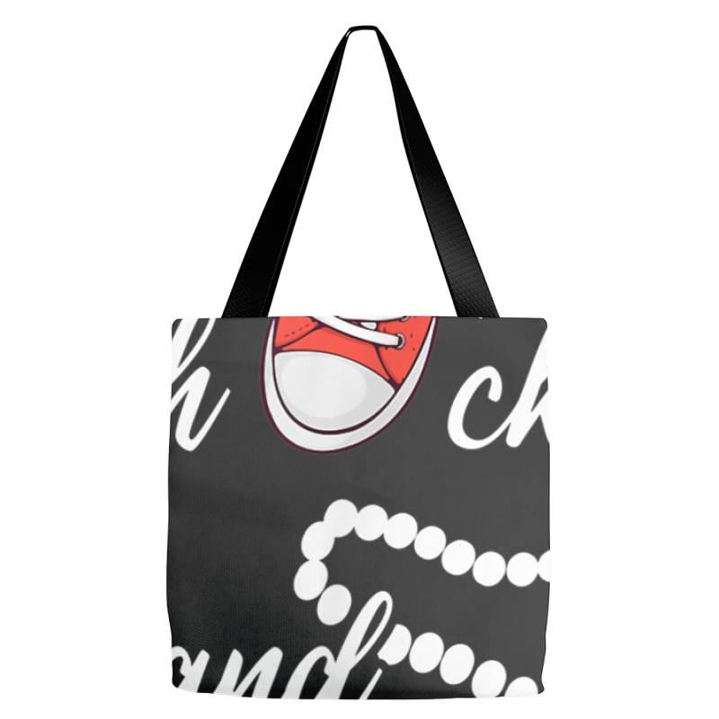 Chucks And Pearls 2021 Cute Chucks And Pearls  Gift T Shirt Tote Bags   Artistshot