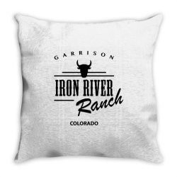 iron river ranch colorado Throw Pillow | Artistshot