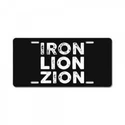 iron lion zion License Plate | Artistshot
