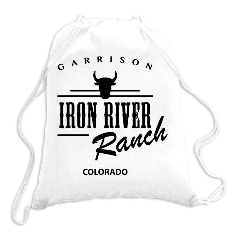 Iron River Ranch Colorado Drawstring Bags | Artistshot