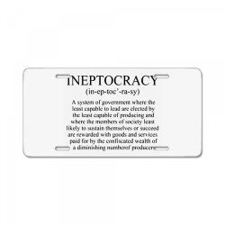 ineptocracy License Plate | Artistshot