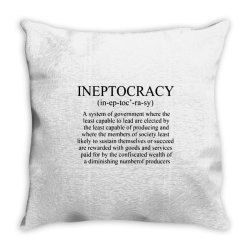ineptocracy Throw Pillow | Artistshot