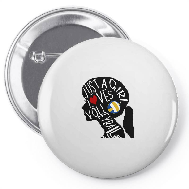 Just A Girl Who Loves Volleyball Pin-back Button | Artistshot