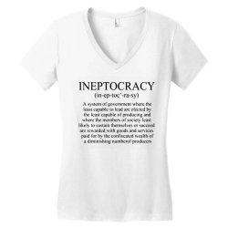 ineptocracy Women's V-Neck T-Shirt | Artistshot