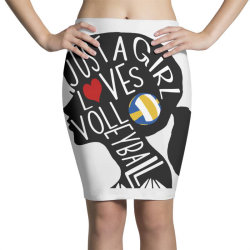 just a girl who loves volleyball Pencil Skirts | Artistshot