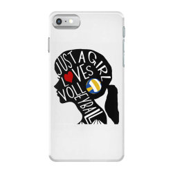 just a girl who loves volleyball iPhone 7 Case | Artistshot