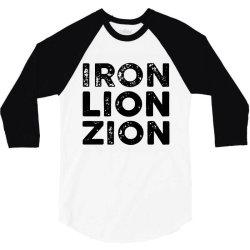 iron lion zion 3/4 Sleeve Shirt   Artistshot