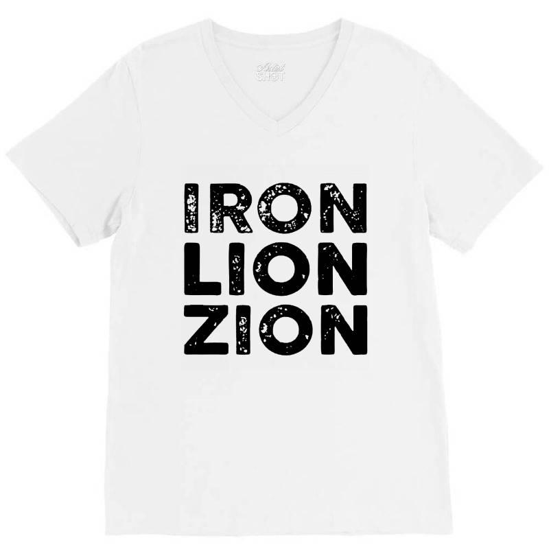 Iron Lion Zion V-neck Tee   Artistshot