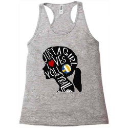 just a girl who loves volleyball Racerback Tank | Artistshot