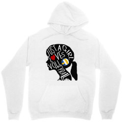 just a girl who loves volleyball Unisex Hoodie | Artistshot