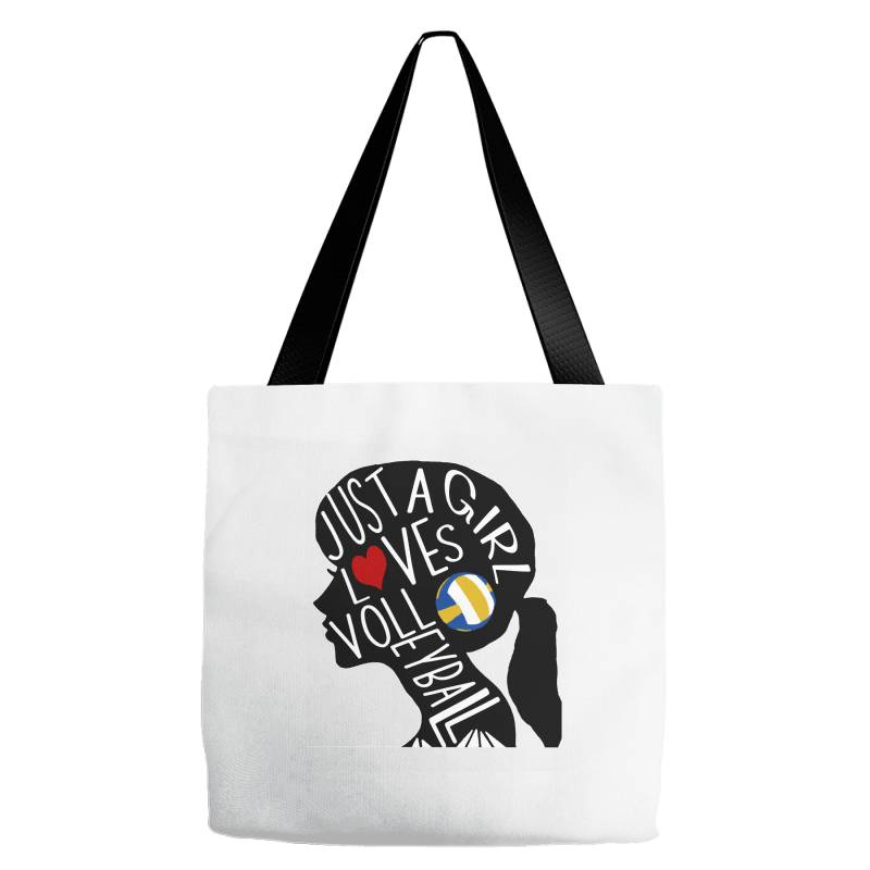 Just A Girl Who Loves Volleyball Tote Bags | Artistshot
