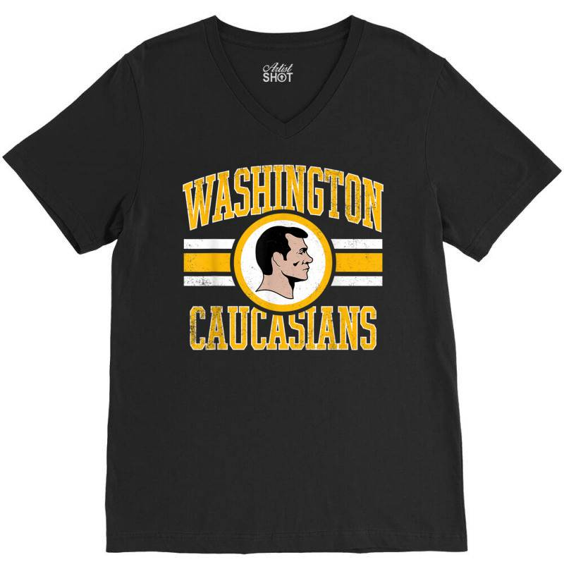 Washington Caucasians Football Rednecks Washington T Shirt V-neck Tee   Artistshot