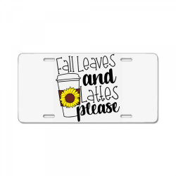 Fall Leaves And Lattes Please License Plate | Artistshot