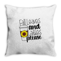Fall Leaves And Lattes Please Throw Pillow | Artistshot