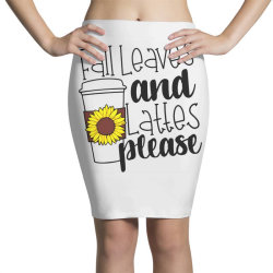 Fall Leaves And Lattes Please Pencil Skirts | Artistshot