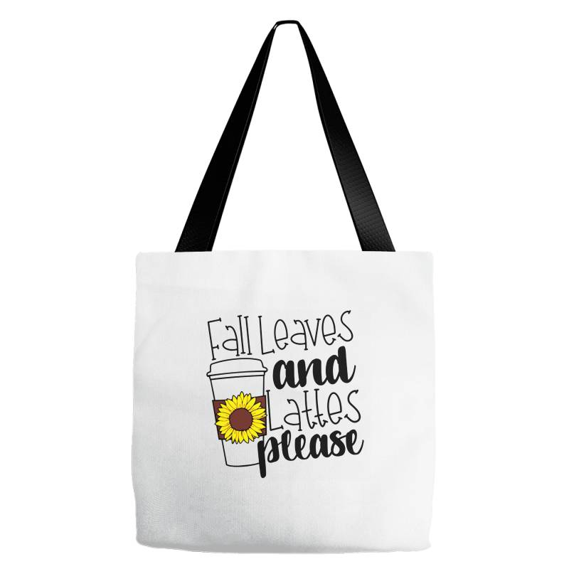 Fall Leaves And Lattes Please Tote Bags | Artistshot