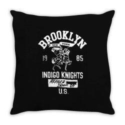indigo knights brooklyn new york Throw Pillow | Artistshot