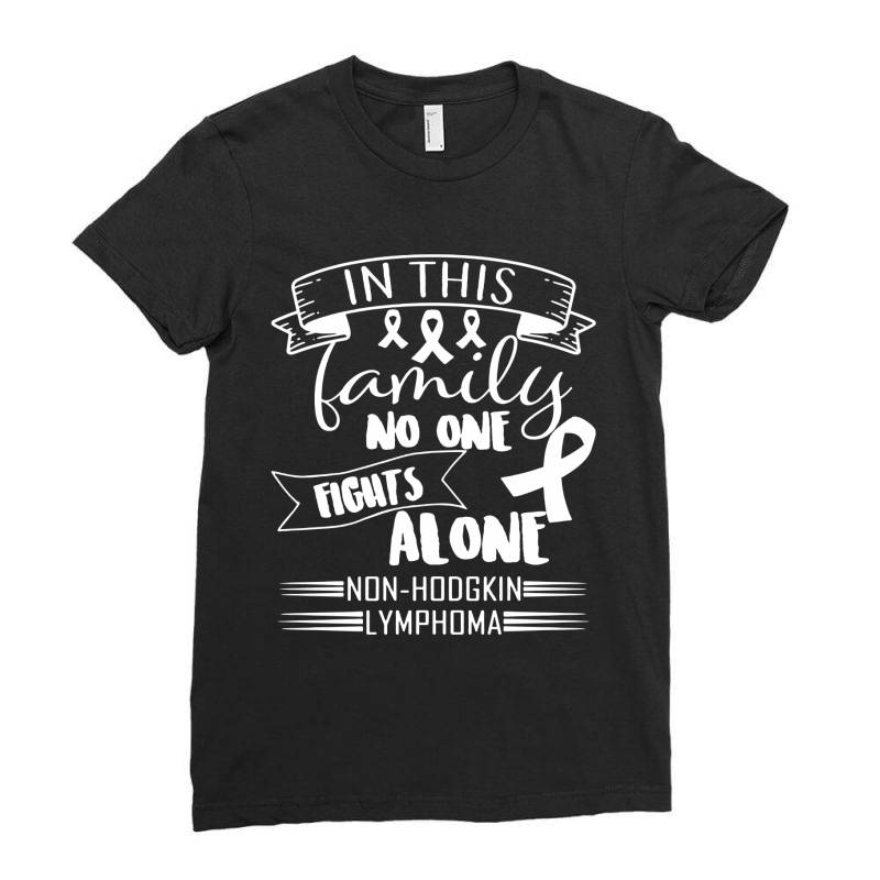 In This Family No Fight Alone Ladies Fitted T-shirt | Artistshot