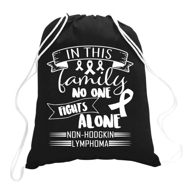 In This Family No Fight Alone Drawstring Bags | Artistshot