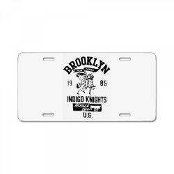 indigo knights brooklyn new york License Plate | Artistshot