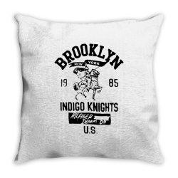 indigo knights brooklyn new york Throw Pillow | Artistshot
