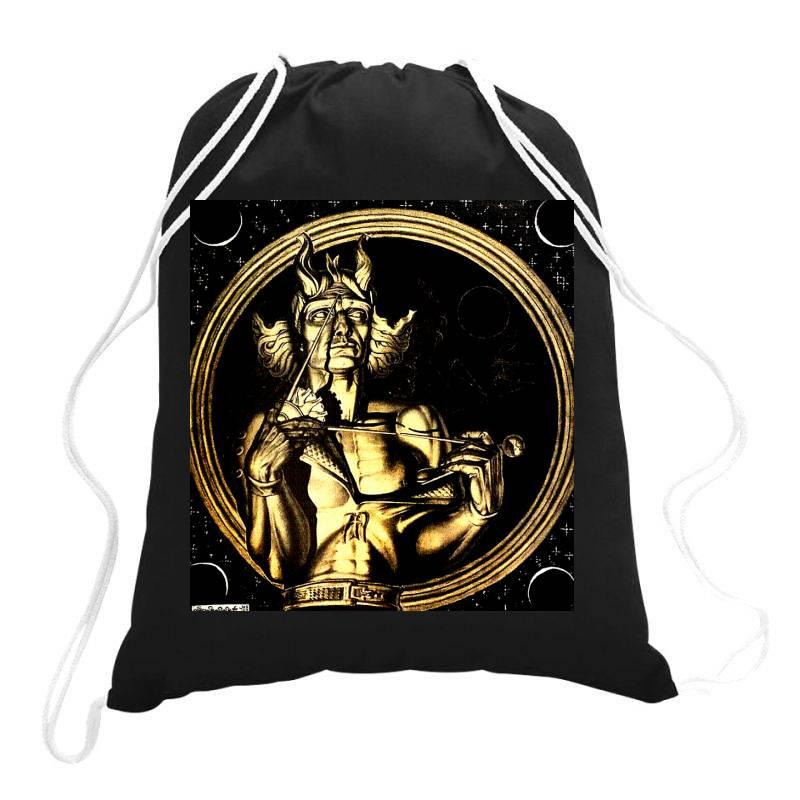 Szukalski Copernic Fitted T Shirt Drawstring Bags | Artistshot