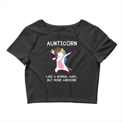 aunticorn unicorn aunt essential t shirt Crop Top   Artistshot