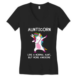 aunticorn unicorn aunt essential t shirt Women's V-Neck T-Shirt   Artistshot