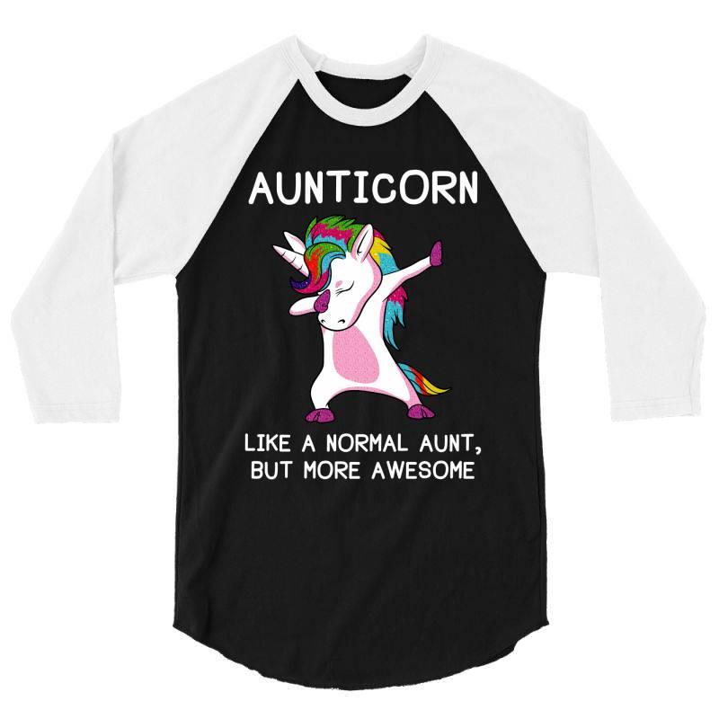 Aunticorn Unicorn Aunt Essential T Shirt 3/4 Sleeve Shirt | Artistshot