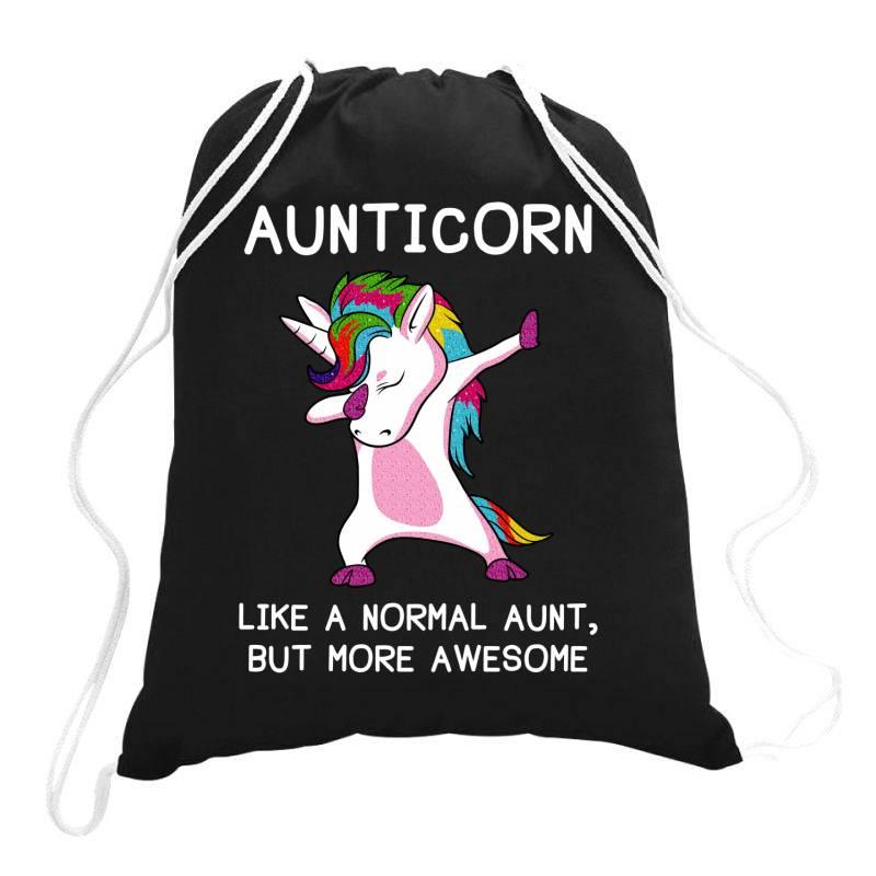 Aunticorn Unicorn Aunt Essential T Shirt Drawstring Bags | Artistshot
