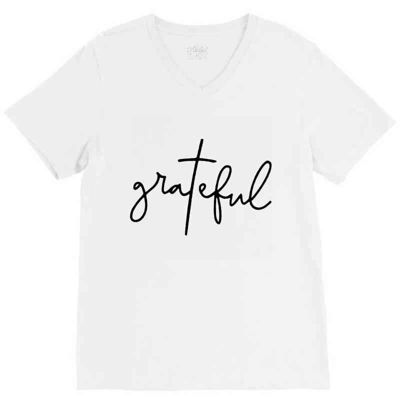 Grateful V-neck Tee | Artistshot